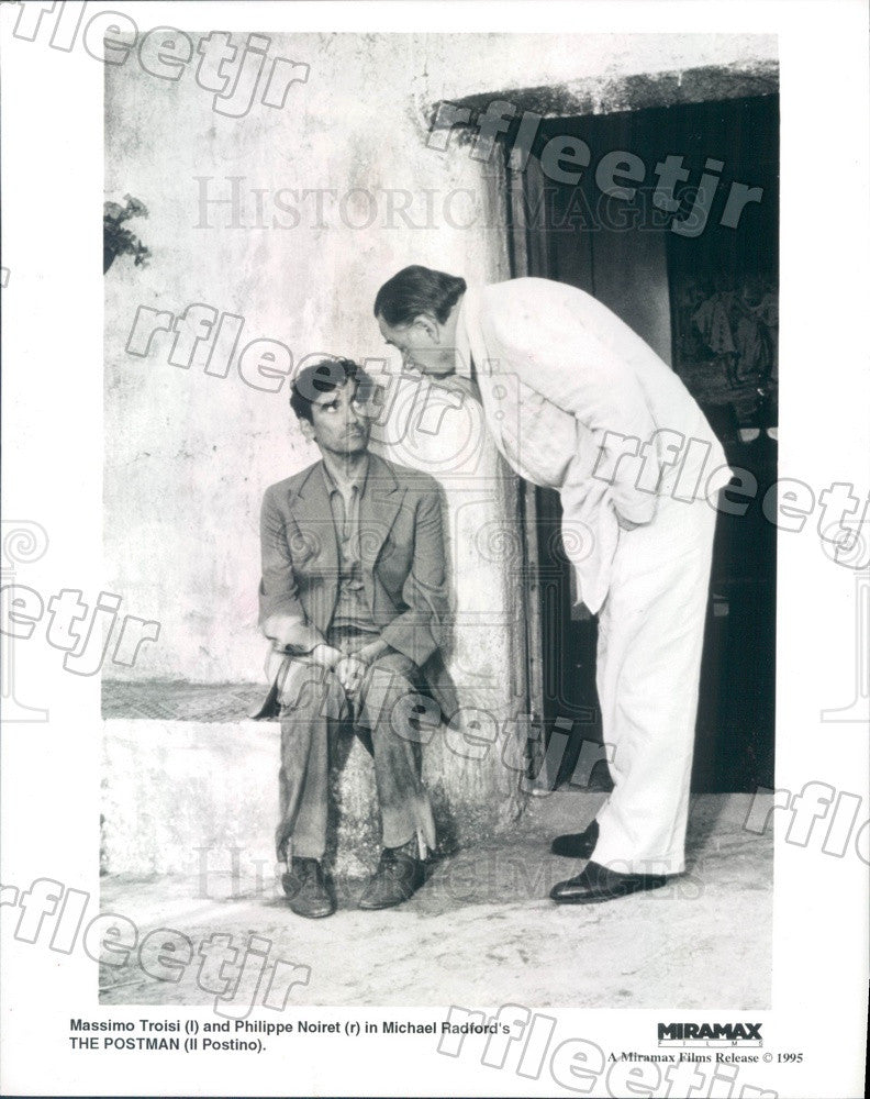 1995 Actors Massimo Troisi, Philippe Noiret in Film Il Postino Press Photo ady73 - Historic Images