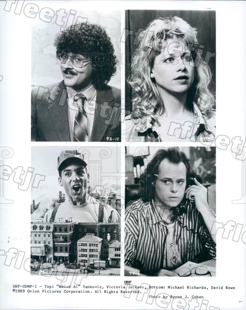 1989 Actors Victoria Jackson, Al Yankovic, Michael Richards Press Photo ady749 - Historic Images