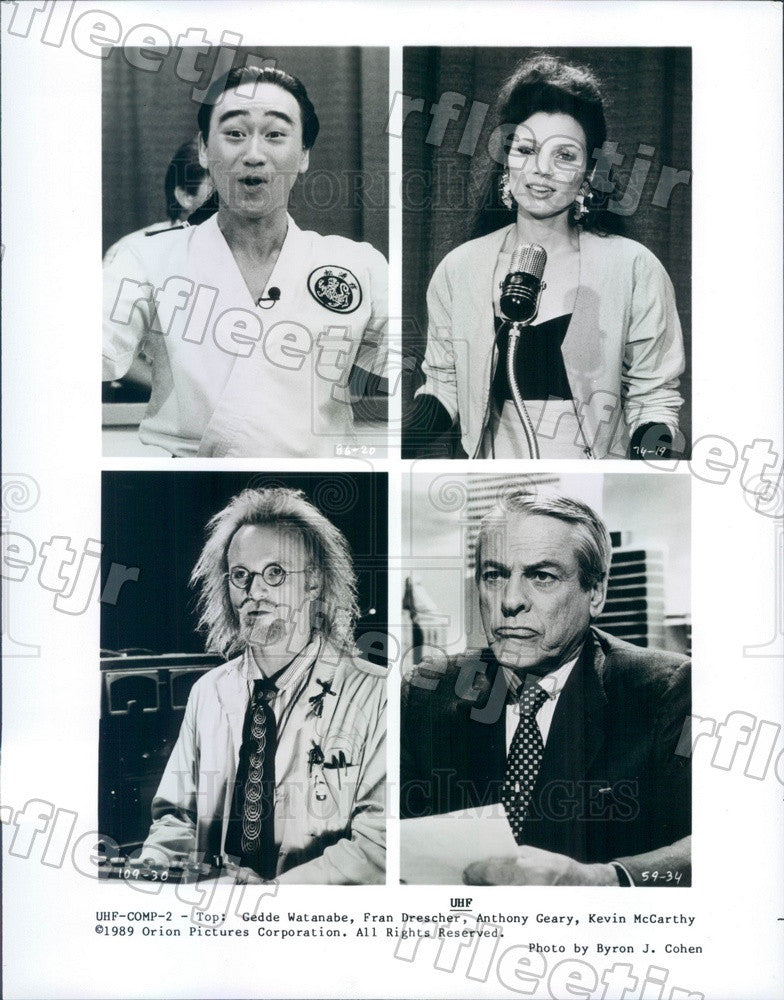 1989 Actors Gedde Watanabe, Fran Drescher, Anthony Geary Press Photo ady751 - Historic Images