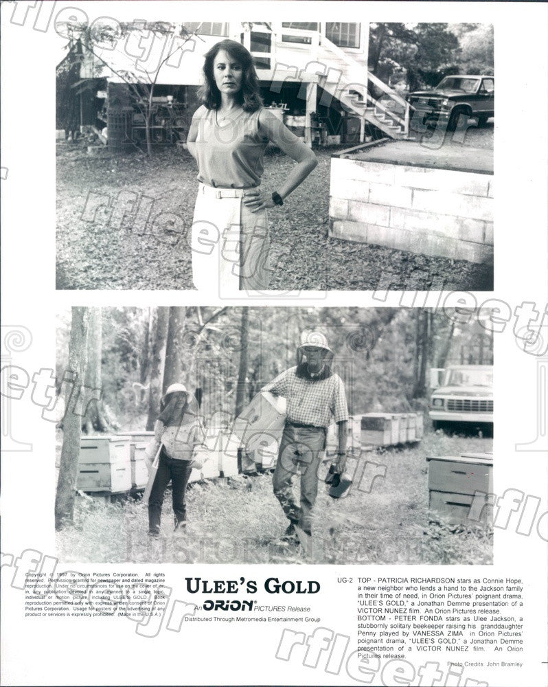 1997 Actors Patricia Richardson & Peter Fonda in Ulee's Gold Press Photo ady753 - Historic Images