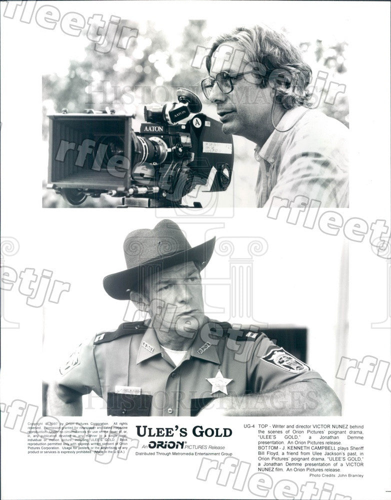 1997 Actor J. Kenneth Campbell, Director Victor Nunez of Film Press Photo ady755 - Historic Images