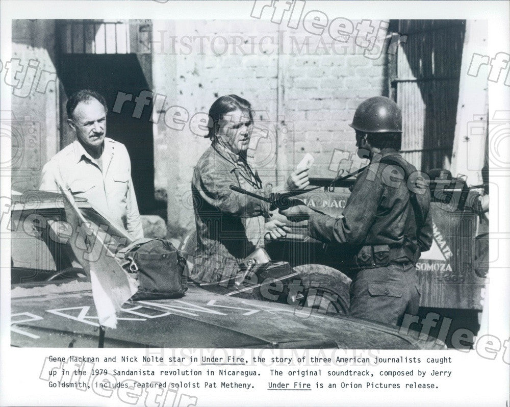 Undated Actors Nick Nolte & Oscar Winner Gene Hackman Press Photo ady773 - Historic Images