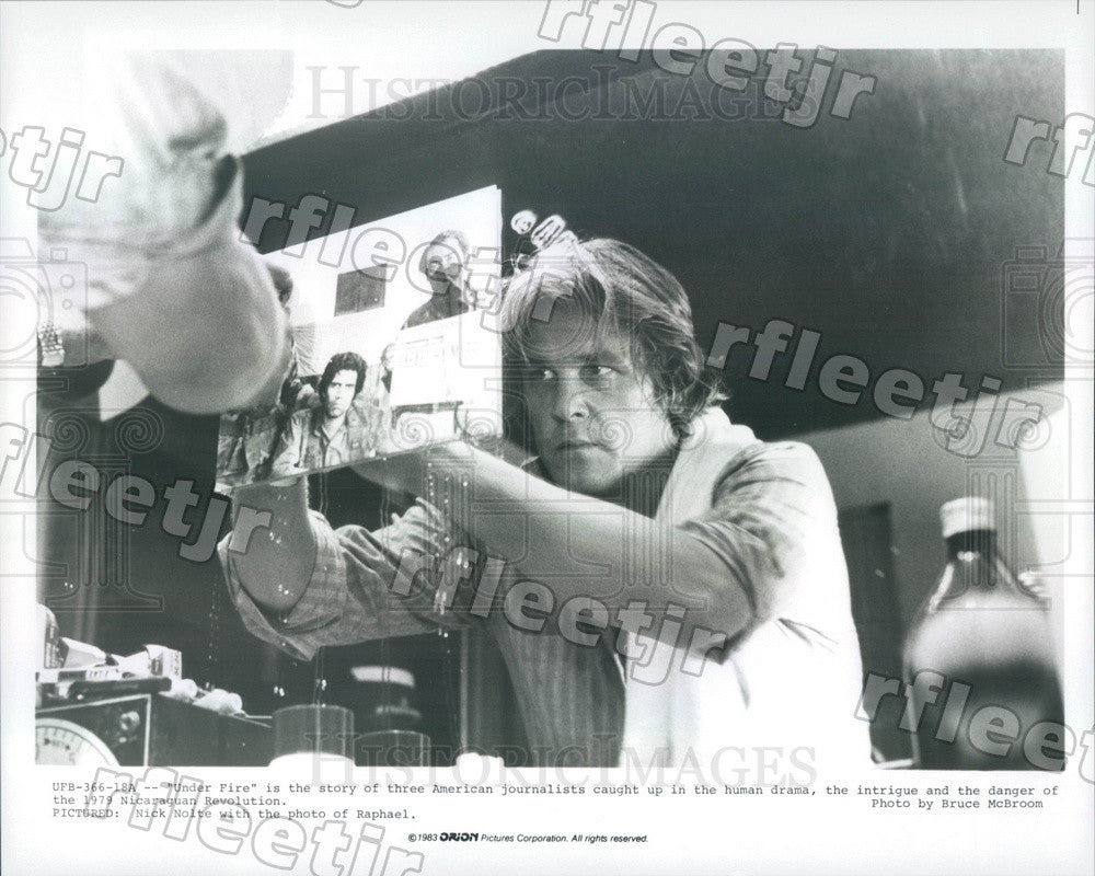 1983 American Hollywood Actor Nick Nolte in Film Under Fire Press Photo ady775 - Historic Images