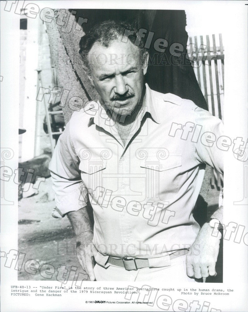 1983 Oscar Winning Actor Gene Hackman in Film Under Fire Press Photo ady777 - Historic Images