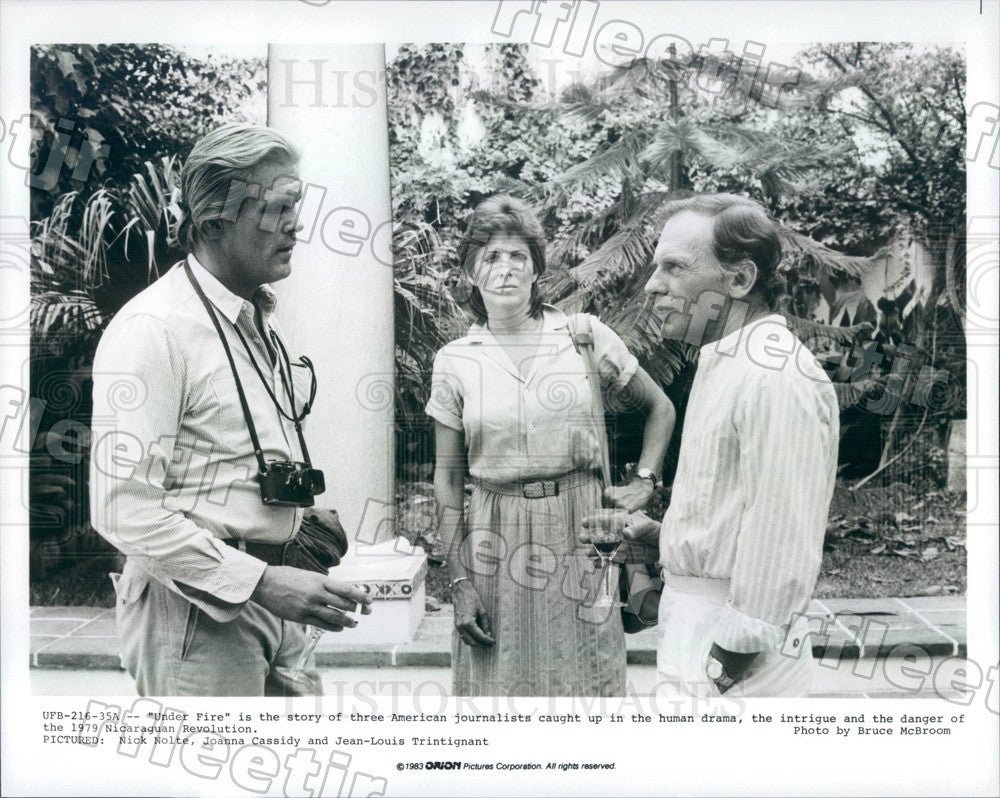 1983 Actor Nick Nolte, Joanna Cassidy, Jean-Louis Trintignant Press Photo ady779 - Historic Images