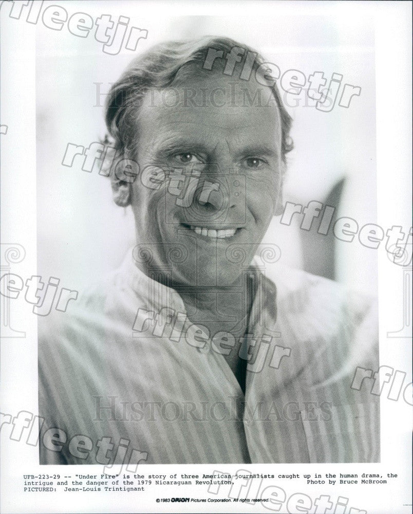 1983 Actor Jean-Louis Trintignant in Film Under Fire Press Photo ady781 - Historic Images