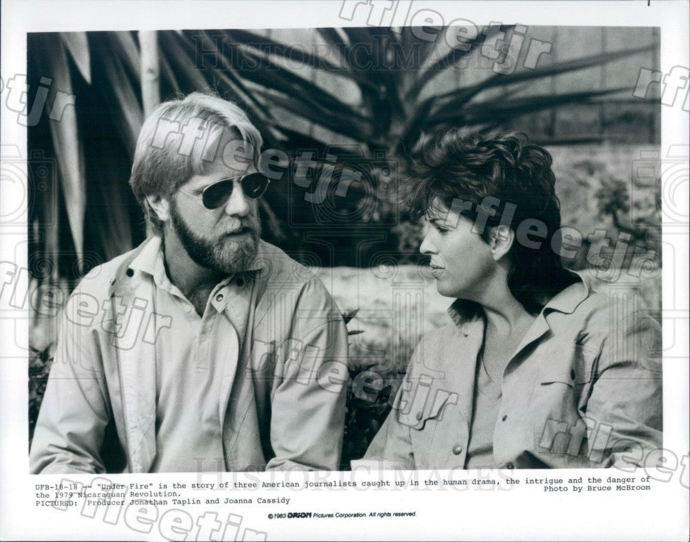 1983 Actor Joanna Cassidy, Producer Jonathan Taplin of Film Press Photo ady783 - Historic Images