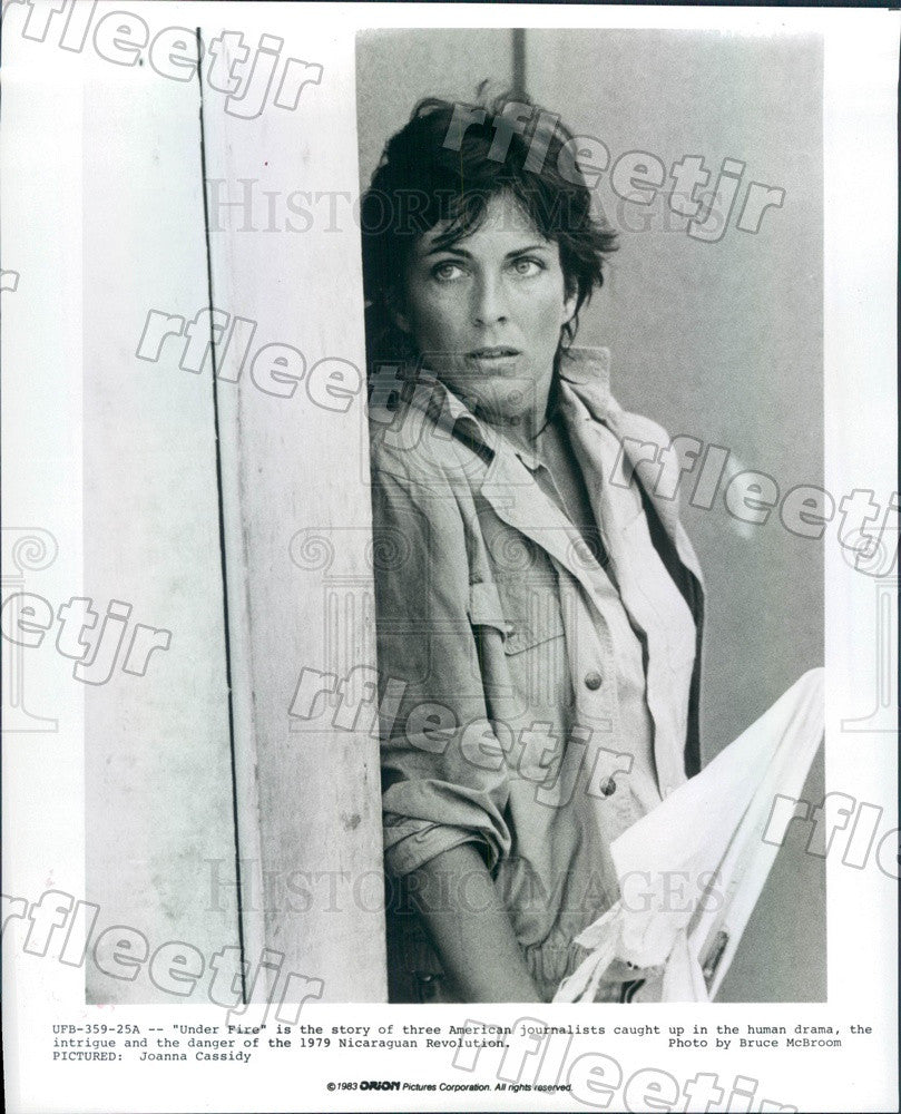 1983 Hollywood Actor Joanna Cassidy in Film Under Fire Press Photo ady787 - Historic Images
