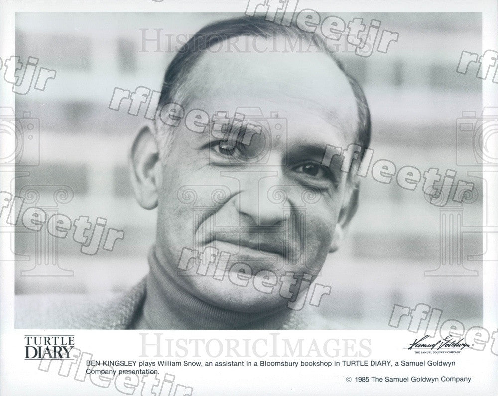1985 Oscar Winning Actor Ben Kingsley in Film Turtle Diary Press Photo ady797 - Historic Images