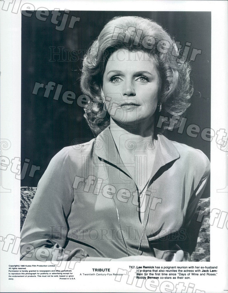 1980 American Actress Lee Remick in Film Tribute Press Photo ady801 - Historic Images