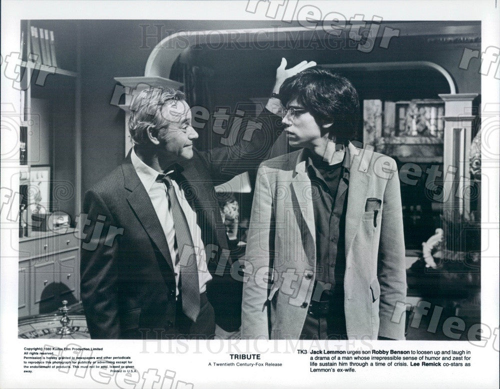 1980 Oscar Winning Actor Jack Lemmon & Robby Benson in Film Press Photo ady805 - Historic Images