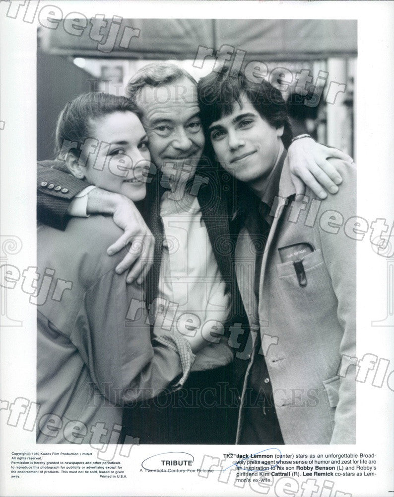 1980 Actors Jack Lemmon, Robby Benson, Kim Cattrall in Film Press Photo ady807 - Historic Images
