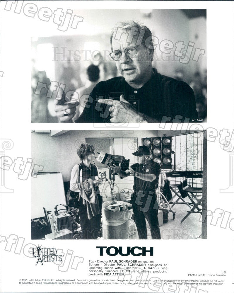 1997 Producer Lila Cazes, Director Paul Schrader Press Photo ady813 - Historic Images