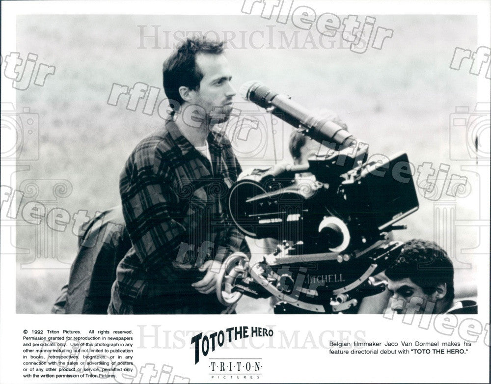 1992 Belgian Filmmaker Jaco Van Dormael Filming Toto The Hero Press Photo ady823 - Historic Images