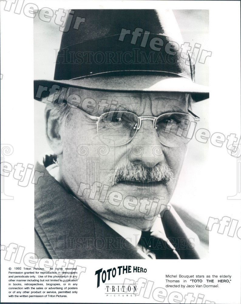 1992 French Actor Michel Bouquet in Film Toto The Hero Press Photo ady825 - Historic Images