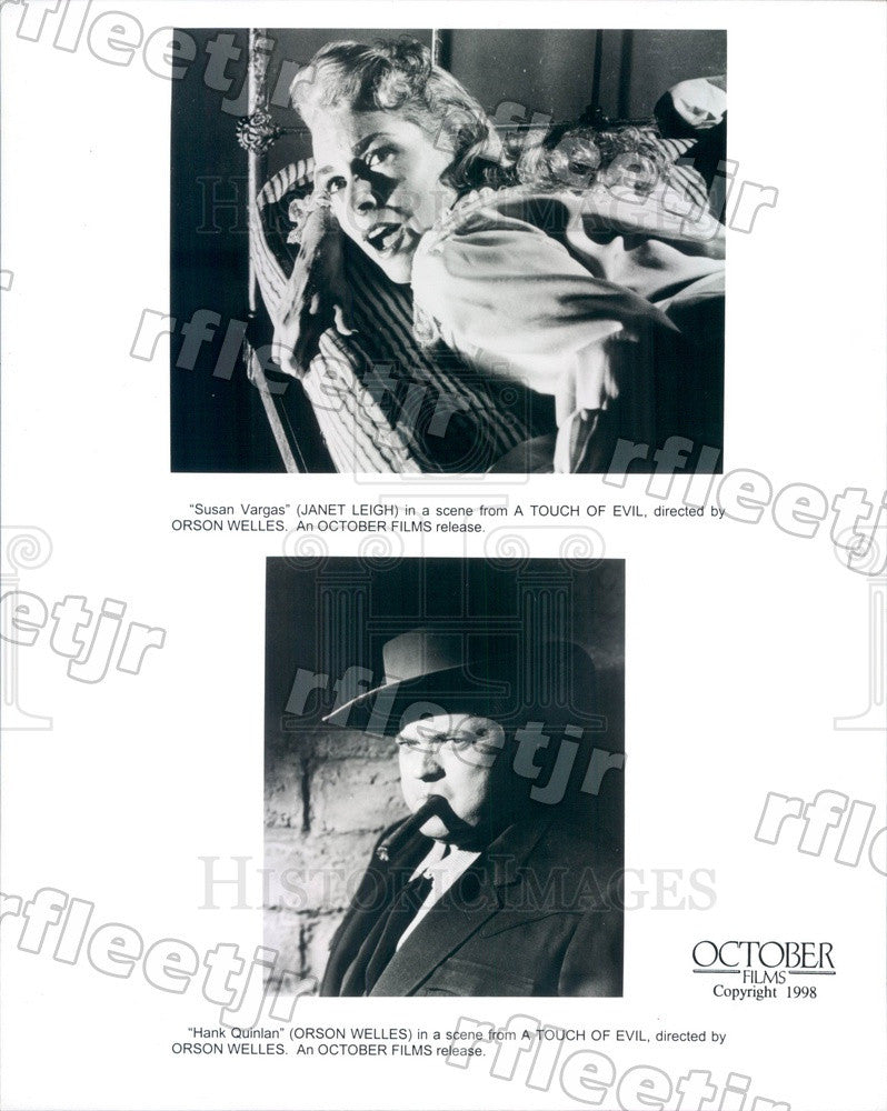 1998 Actor Janet Leigh, Oscar Winning Director Orson Welles Press Photo ady831 - Historic Images