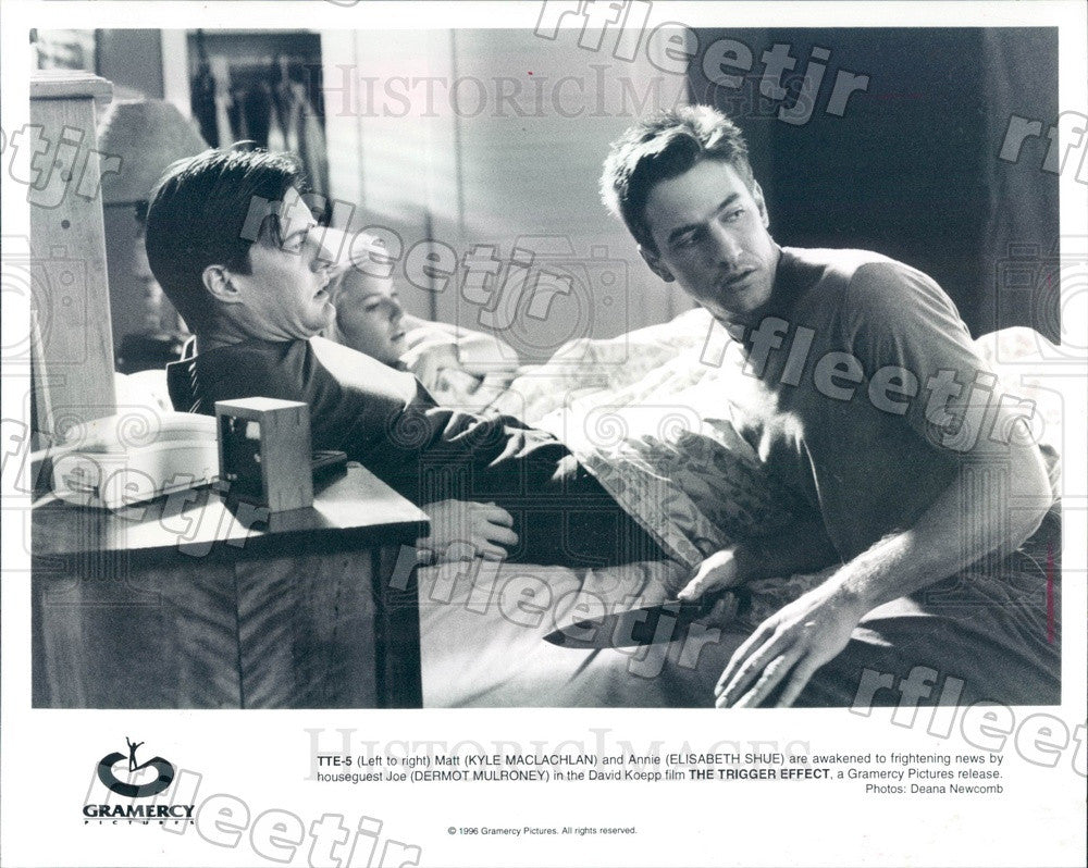 1996 Actors Kyle MacLachlan, Elisabeth Shue, Dermot Mulroney Press Photo ady837 - Historic Images