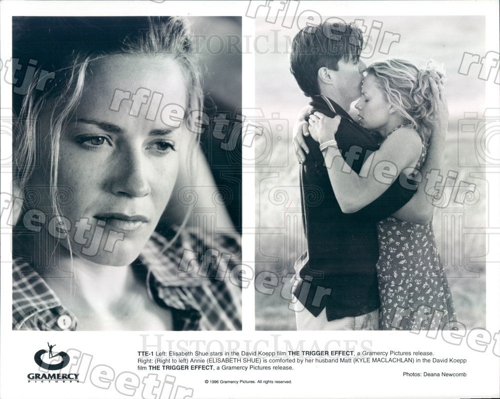 1996 Actors Kyle MacLachlan & Elisabeth Shue in Film Press Photo ady839 - Historic Images