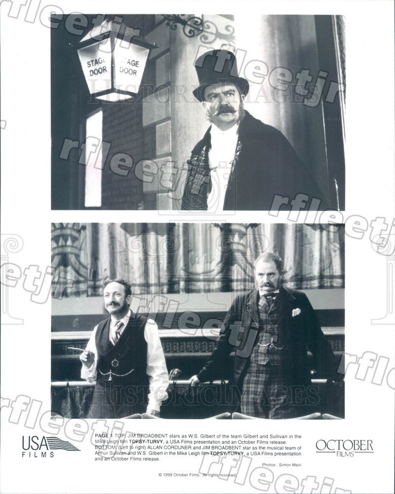1999 Oscar Winning Actor Jim Broadbent & Allan Corduner Press Photo ady841 - Historic Images