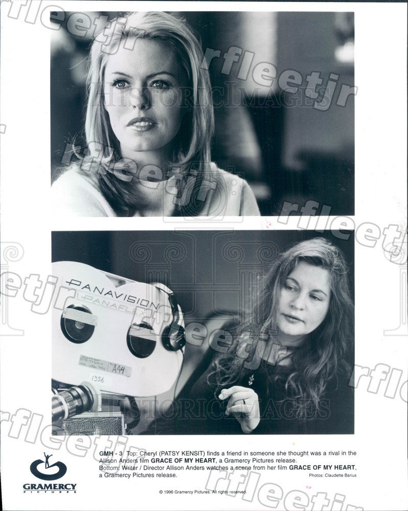 1996 Actress Patsy Kensit, Director Allison Anders Filming Press Photo ady849 - Historic Images