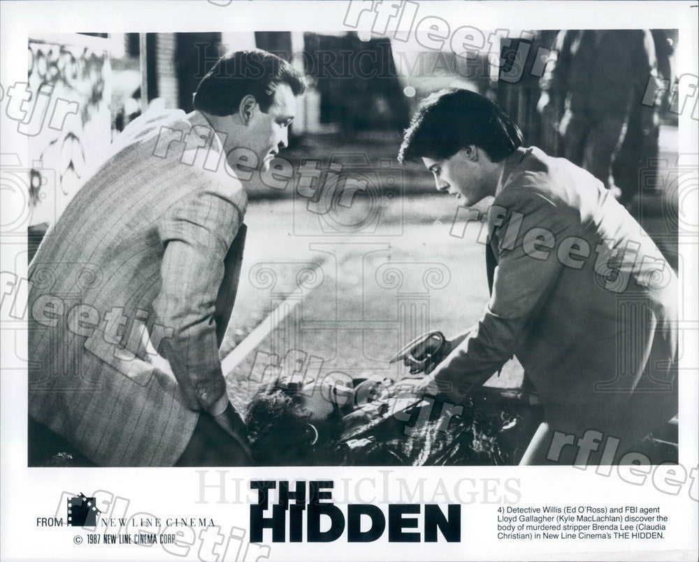 1987 Actors Ed O'Ross & Kyle MacLachlan in Film The Hidden Press Photo ady853 - Historic Images
