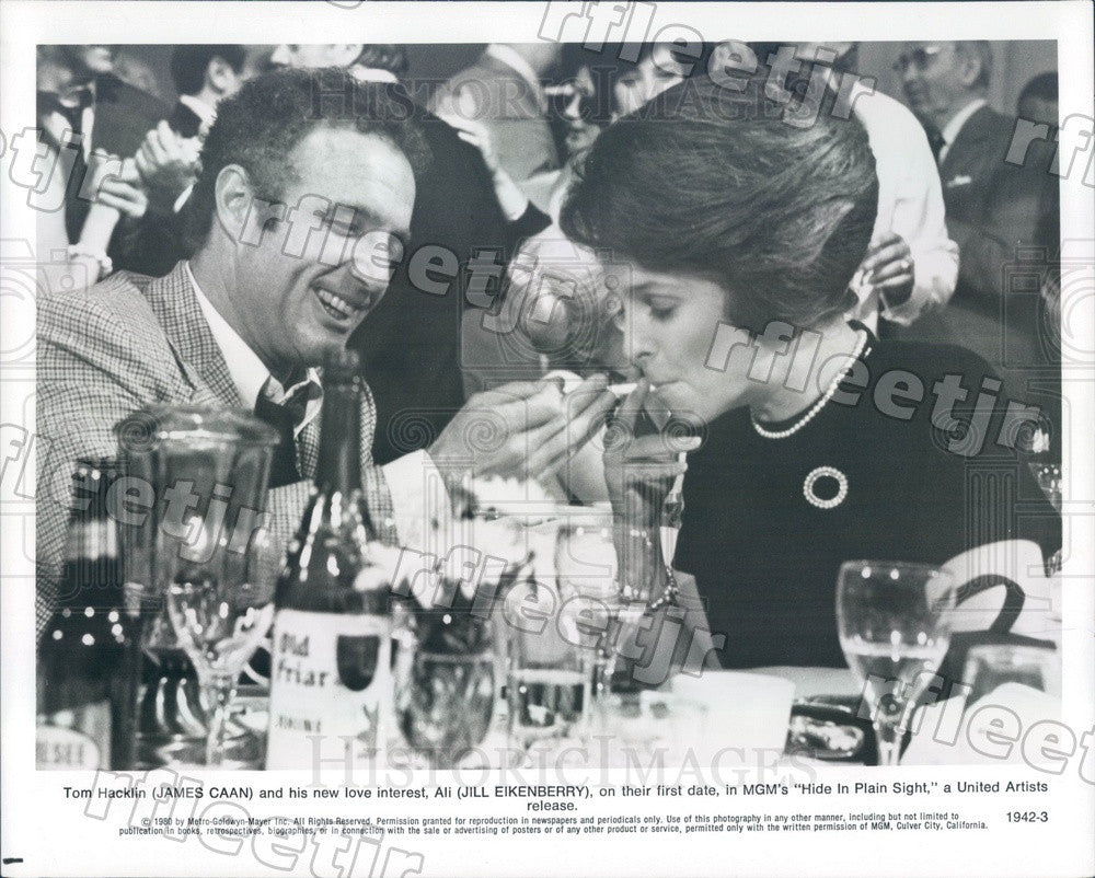 1980 Actors James Caan & Jill Eikenberry in Film Press Photo ady863 - Historic Images