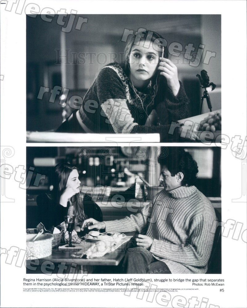 1995 Actors Alicia Silverstone & Jeff Goldblum in Hideaway Press Photo ady867 - Historic Images