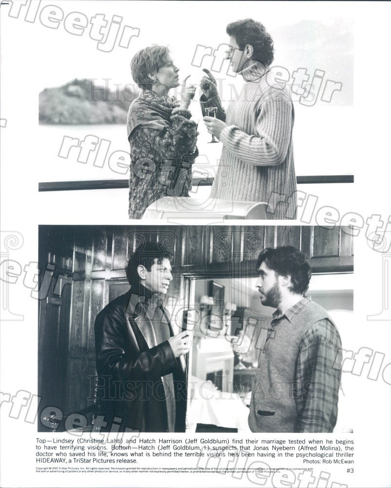 1995 Actors Christine Lahti, Jeff Goldblum, Alfred Molina Press Photo ady869 - Historic Images