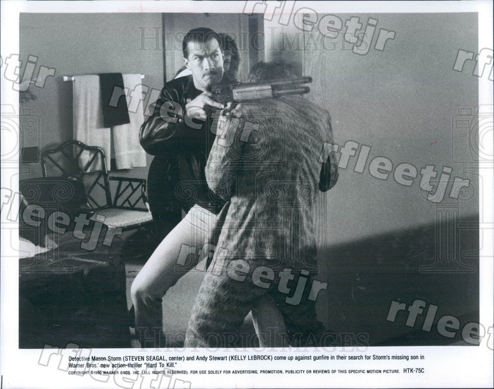 1990 Actors Steven Seagal & Kelly LeBrock in Hard To Kill Press Photo ady889 - Historic Images