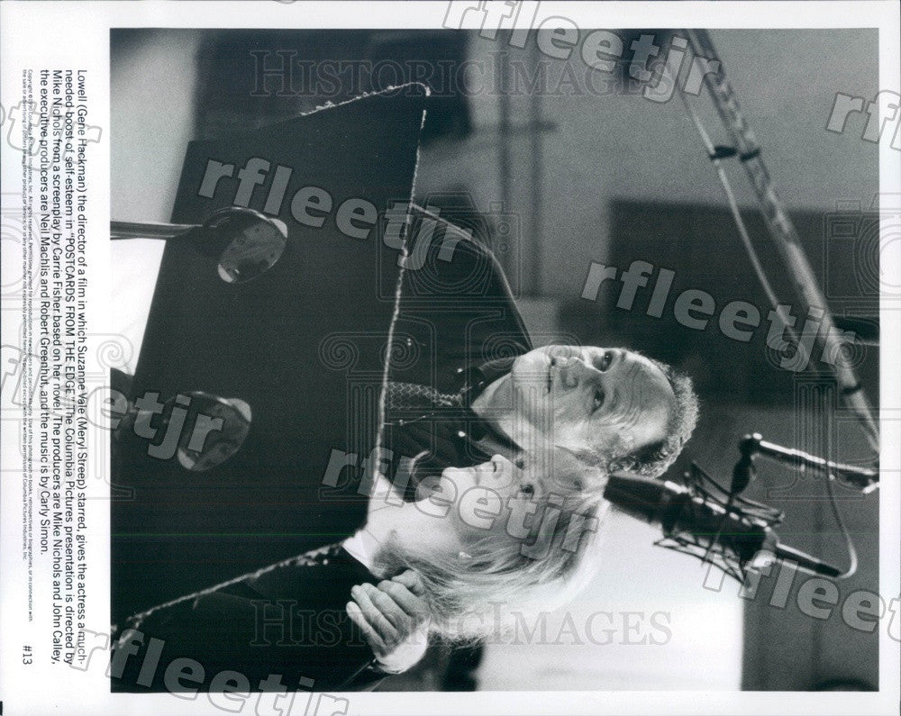 1990 Oscar Winning Actors Meryl Streep & Gene Hackman in Film Press Photo ady89 - Historic Images