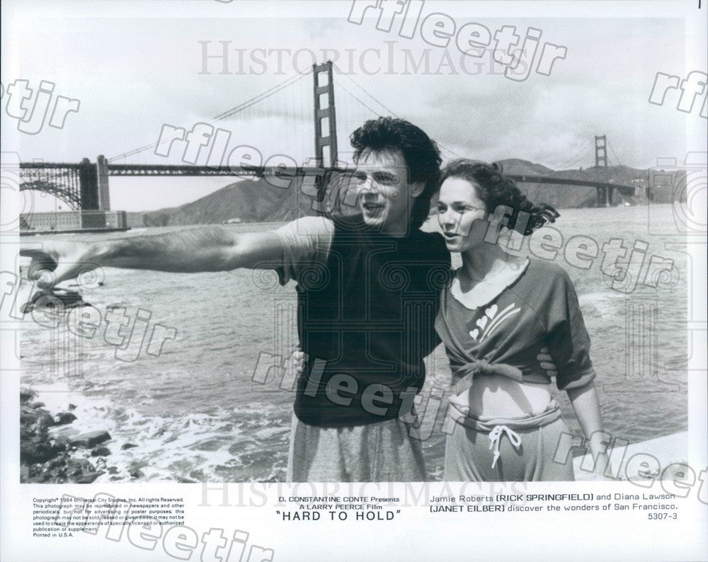 1984 Grammy Winning Actor Rick Springfield & Janet Eilber Press Photo ady895 - Historic Images