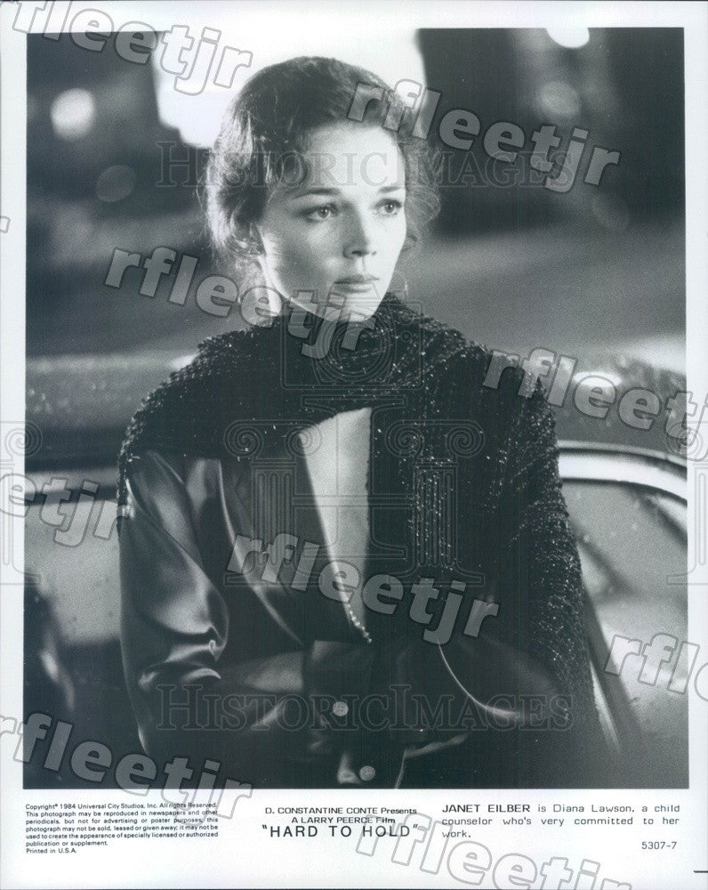 1984 Actor Janet Eilber in Film Hard To Hold Press Photo ady901 - Historic Images