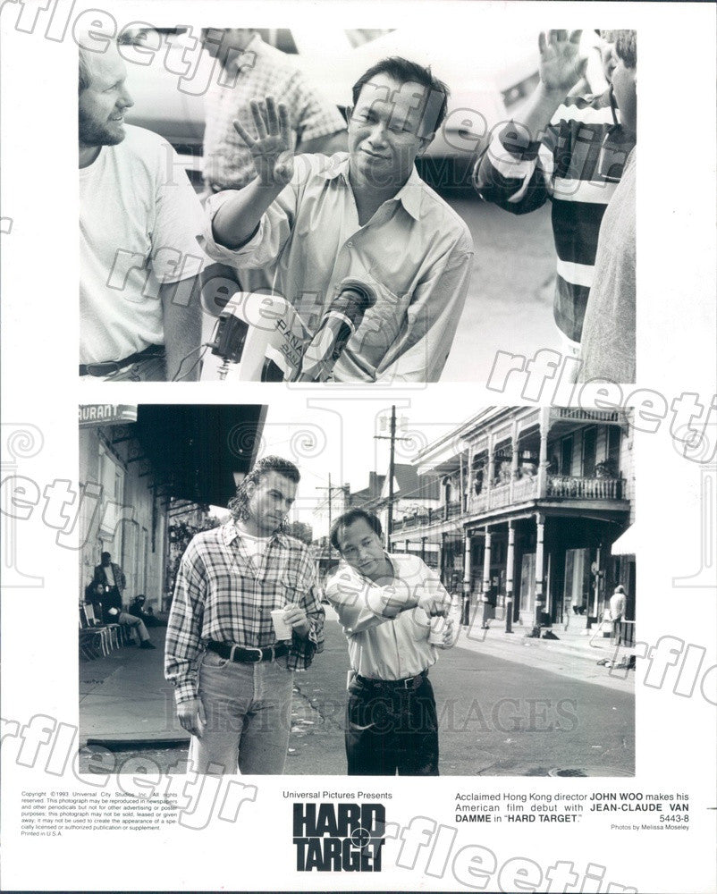 1993 Actor Jean-Claude Van Damme, Hong Kong Director John Woo Press Photo ady905 - Historic Images