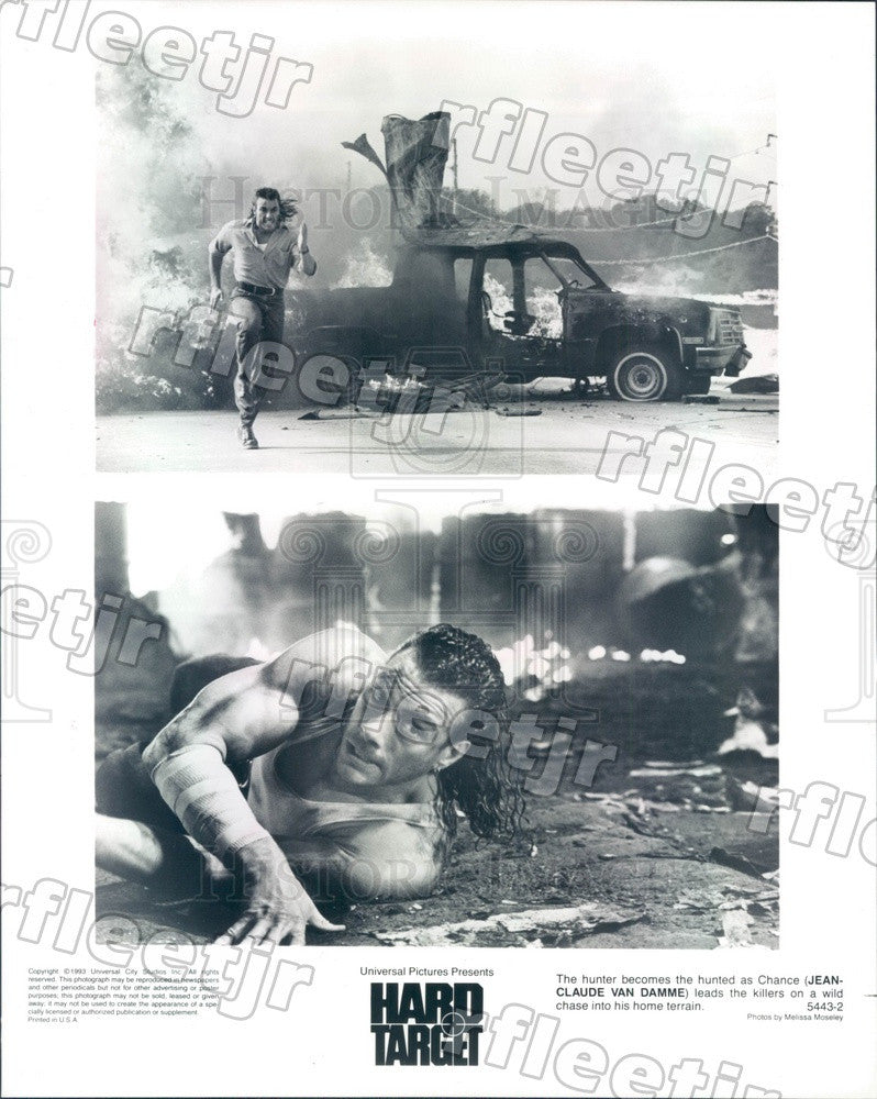 1993 Actor Jean-Claude Van Damme in Film Hard Target Press Photo ady907 - Historic Images
