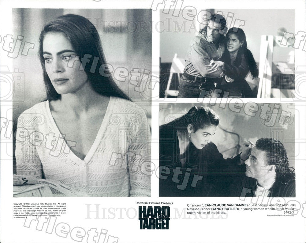 1993 Actors Jean-Claude Van Damme & Yancy Butler in Film Press Photo ady909 - Historic Images