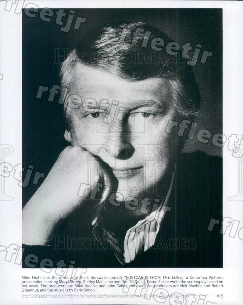 1990 EGOT Winning Director Mike Nichols of Film Postcards Press Photo ady91 - Historic Images