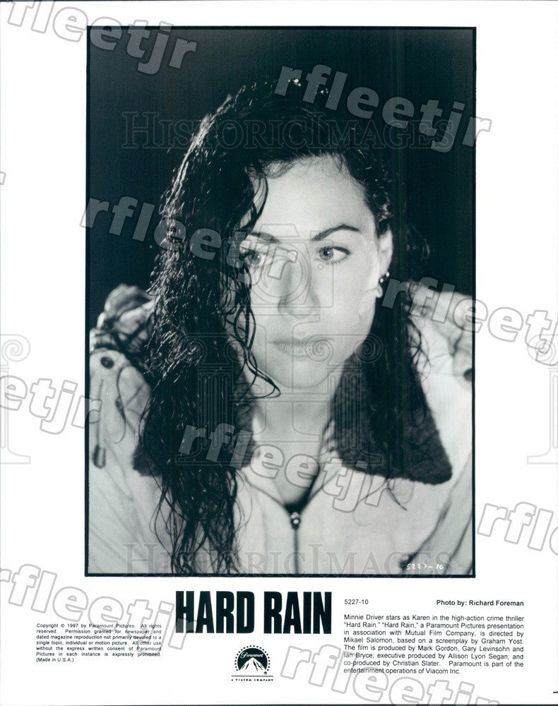 1997 British Actress Minnie Driver in Film Hard Rain Press Photo ady915 - Historic Images