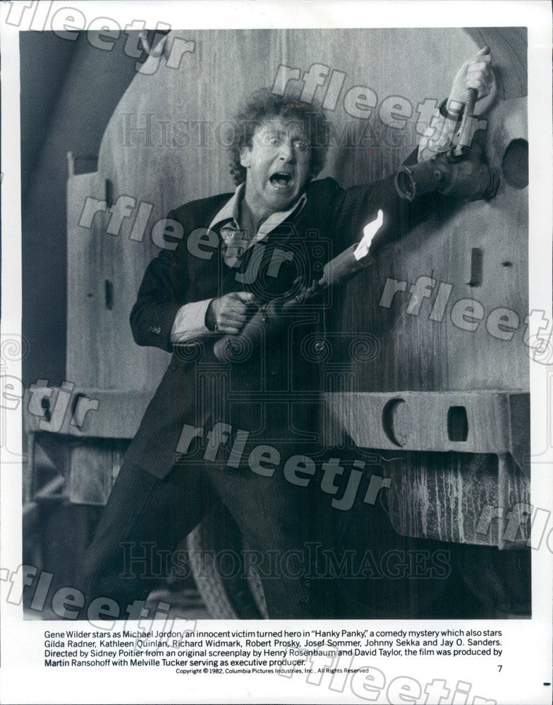1982 American Actor Gene Wilder in Film Hanky Panky Press Photo ady947 - Historic Images