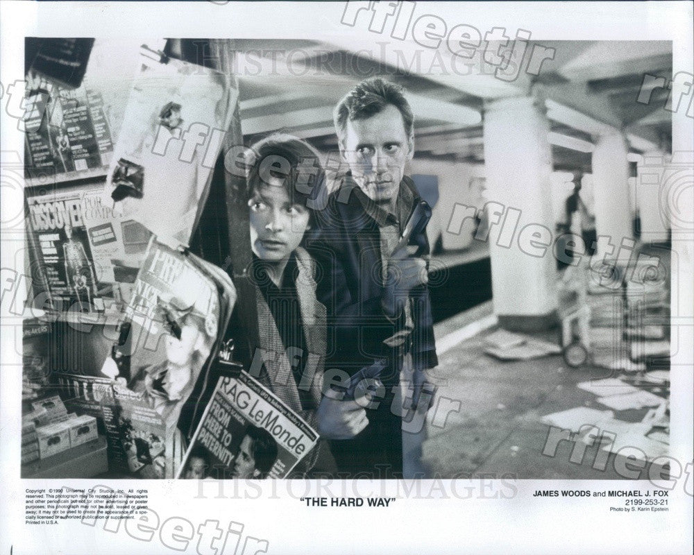 1990 Emmy Winning Actors James Woods & Michael J Fox Press Photo ady949 - Historic Images