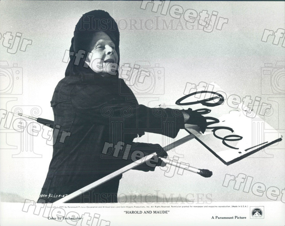 1971 Oscar Winning Actor Ruth Gordon in Film Harold And Maude Press Photo ady965 - Historic Images