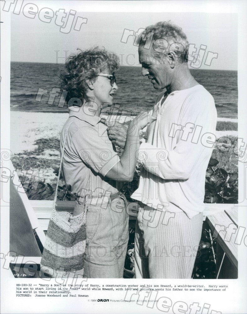 1984 Oscar Winning Actors Joanne Woodward & Paul Newman Press Photo ady981 - Historic Images
