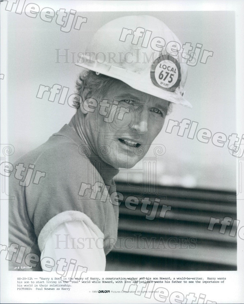 1984 Oscar Winning Actor Paul Newman in Film Harry & Son Press Photo ady987 - Historic Images