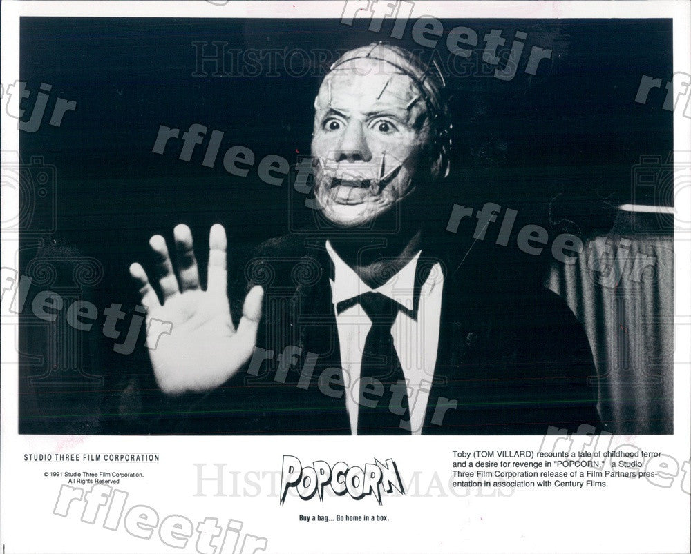 1991 American Actor Tom Villard in Film Popcorn Press Photo ady99 - Historic Images