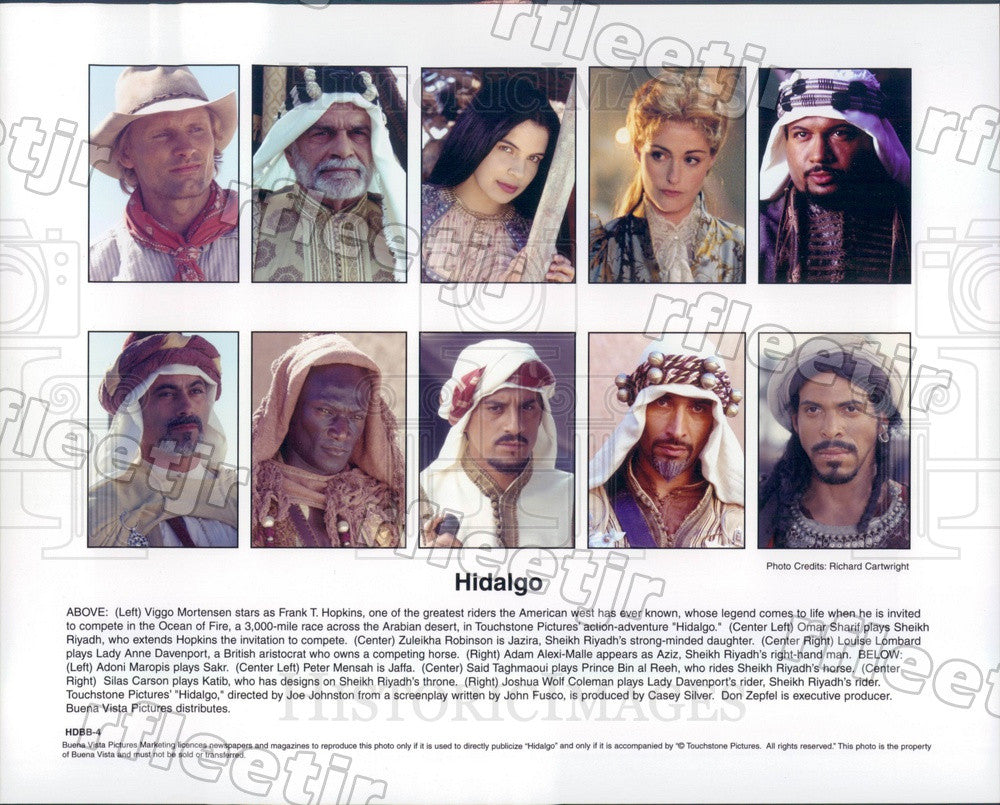 2004 Actors Viggo Mortensen, Omar Sharif, Zuleikha Robinson Press Photo ady999 - Historic Images