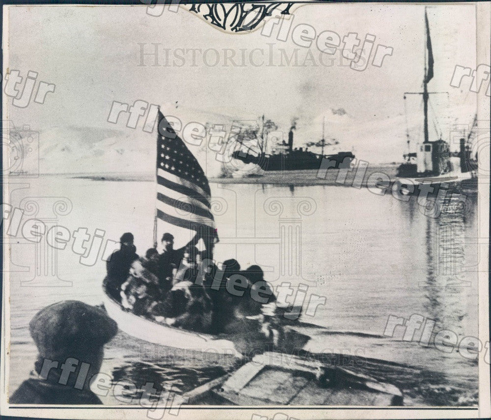 1928 American Boat at King's Bay Spitzbergen, Norway Press Photo adz1 - Historic Images