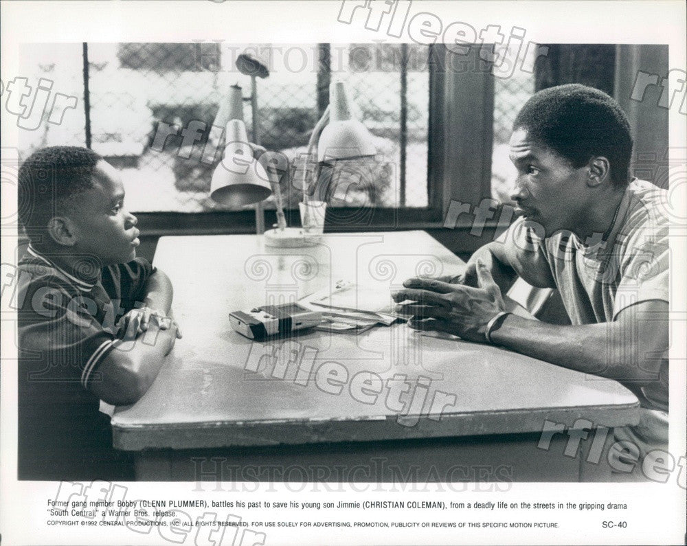 1992 Actors Glenn Plummer, Christian Coleman in South Central Press Photo adz101 - Historic Images