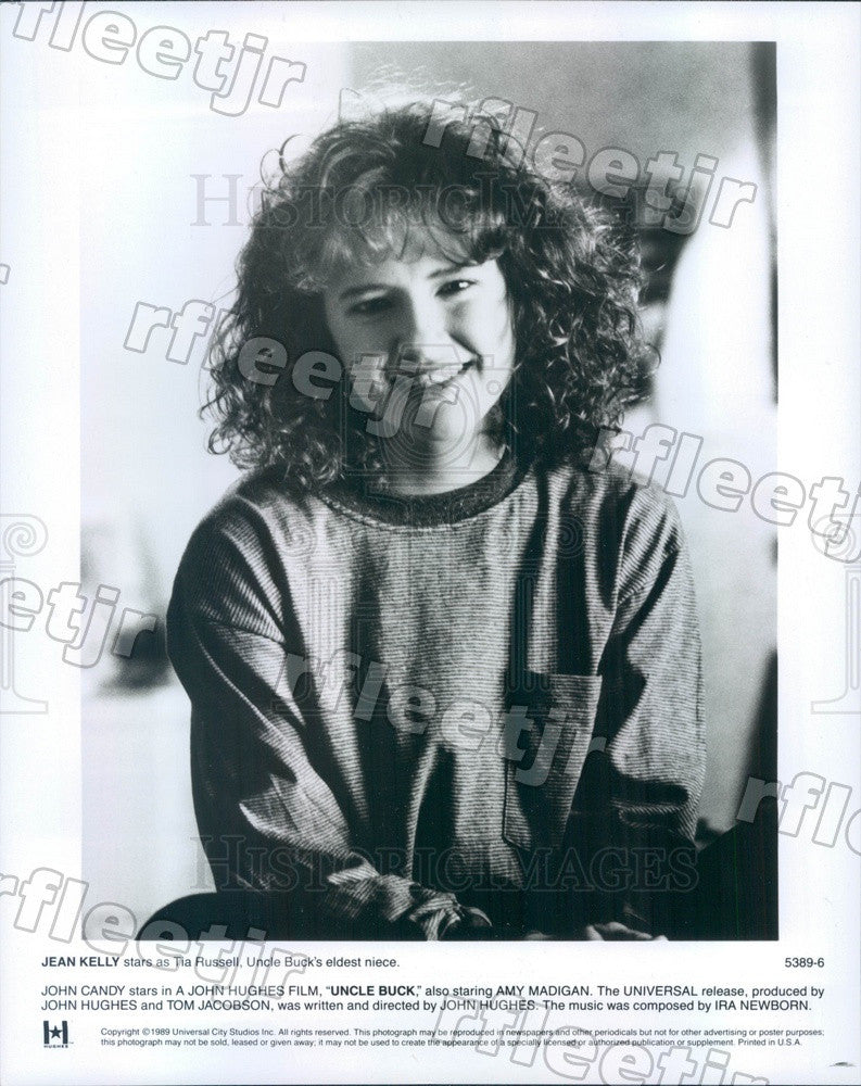1989 American Hollywood Actress Jean Kelly in Film Uncle Buck Press Photo adz11 - Historic Images