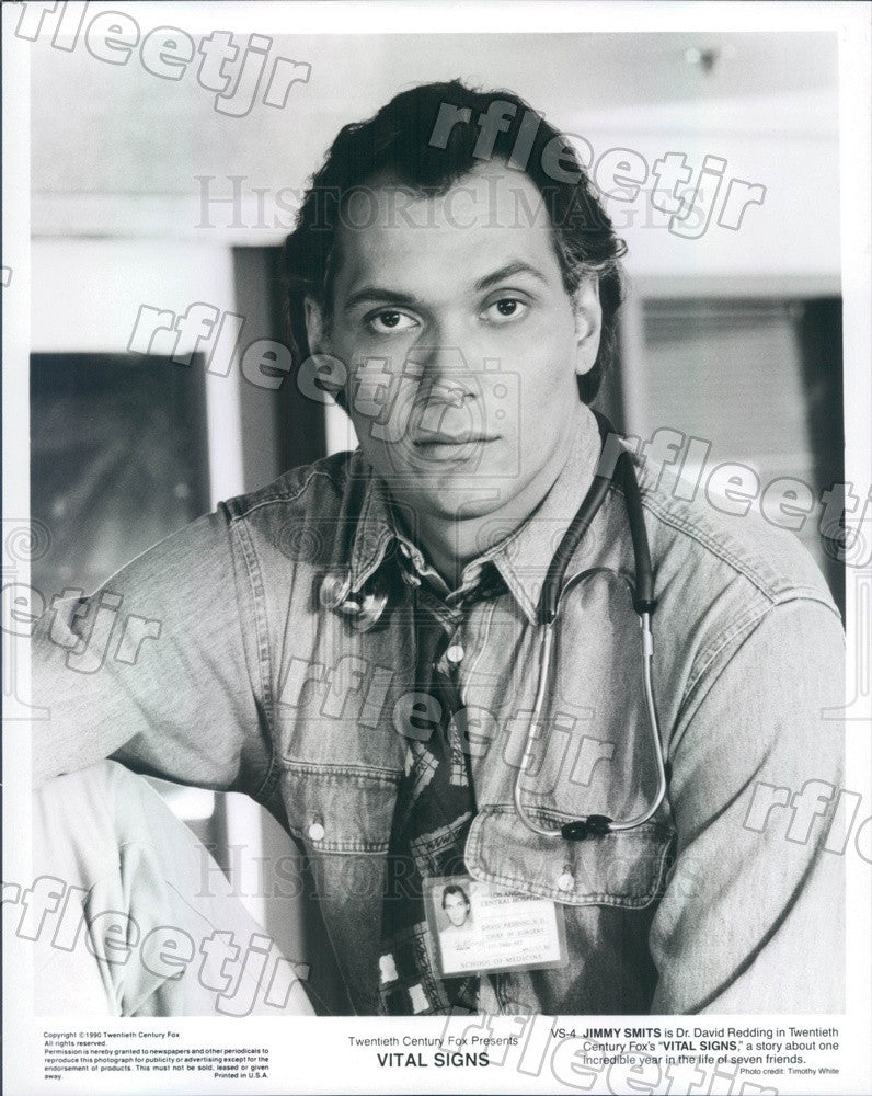 1990 American Hollywood Actor Jimmy Smits in Film Vital Signs Press Photo adz127 - Historic Images