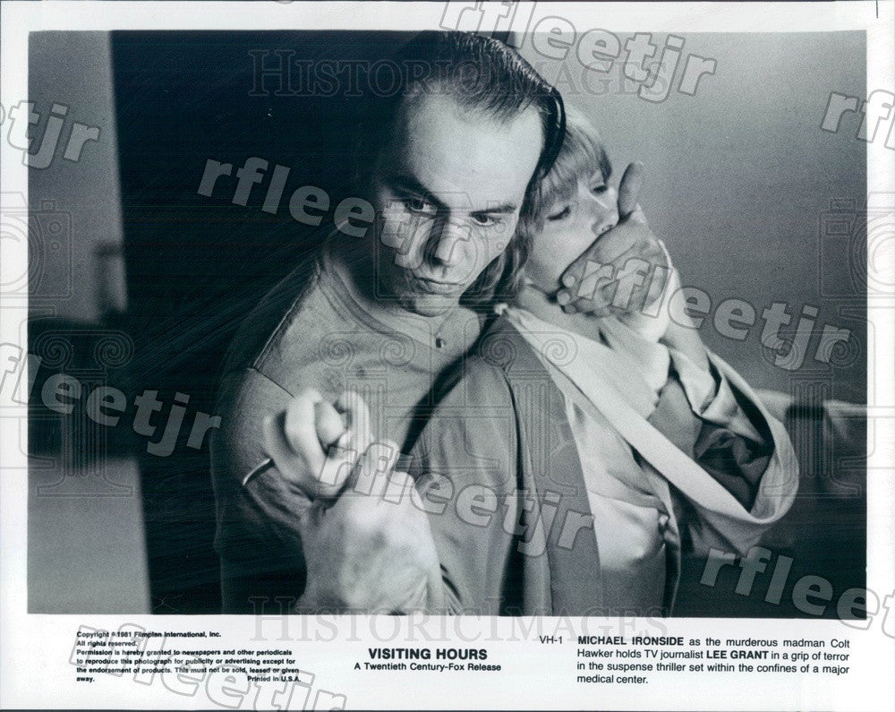 1981 Actors Michael Ironside & Oscar Winner Lee Grant in Film Press Photo adz135 - Historic Images