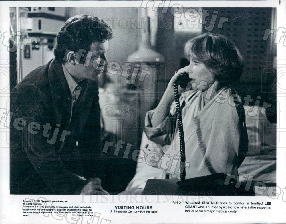 1981 Award Winning Actors William Shatner & Lee Grant in Film Press Photo adz137 - Historic Images